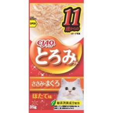 Ciao Chu ru Toromi Line Pouch Chicken Fillet & Tuna 35g x 4pcs (3 Packs)