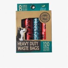 Dogs Rock Spotty Bags 8 Rolls