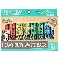 Dogs Rock Spotty Bags 16 Rolls