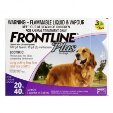 Frontline Plus Tick & Flea for Large Dogs  (20kg - 40kg ) 3 pack