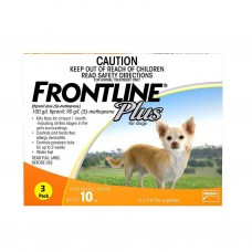 Frontline Plus Tick & Flea for Small Dogs  (Up to 10kg) 3 pack