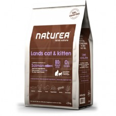 Naturea Grain Free Salmon, Chicken and Herring for Cats and Kittens Dry Food 2kg