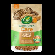 Happi Doggy Dental Chew Care Immune Support Turmeric & Shiitake Dogs Treats (2.5 Inch) 150g