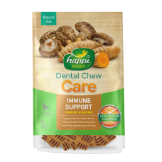 Happi Doggy Dental Chew Care Immune Support Turmeric & Shiitake Dogs Treats (4 Inch) 150g