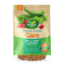 Happi Doggy Dental Chew Care Hip & Joint Support Rosehip & Okra Dogs Treats (2.5 Inch) 150g