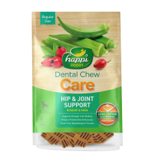 Happi Doggy Dental Chew Care Hip & Joint Support Rosehip & Okra Dogs Treats (4 Inch) 150g