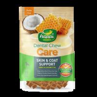 Happi Doggy Dental Chew Care Skin & Coat Support Honey & Coconut Oil Dogs Treats (2.5 Inch) 150g
