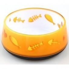 AFP Non-Skid Bowl Small Orange Fishbone
