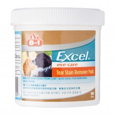 8 in 1 Excel Tear Stain Remover Pads for Dogs and Cats (90 pads)