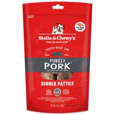 Stella & Chewy's Grain Free Purely Pork Dinner Patties Freeze-Dried Dog Food 14oz