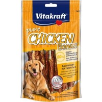 Vitakraft Pure Chicken Bonas Dog Treat 80g (2Pkt)