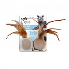 AFP Classic Comfort Feather Balls 2pcs Cat Toy