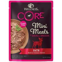 Wellness Core Small Breed Mini Meals Pate Beef & Chicken Dinner Dog Wet Food 85g