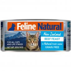 Feline Natural Beef Feast 85g Carton (6 Cans)