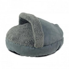 AFP Lambswool Cosy Snuggle Pets Bed Grey