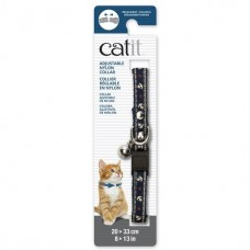 Catit Adjustable Nylon Collar with Rivets Blue Nautical For Cats