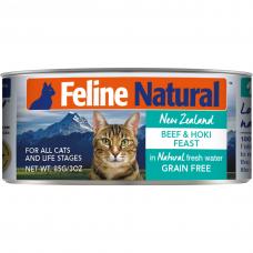 Feline Natural Beef and Hoki Feast 85g Carton (6 Cans)