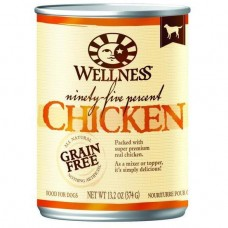 Wellness 95% Grain Free Chicken Pate Dog Canned Food 374g