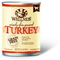 Wellness 95% Grain Free Turkey Pate Dog Canned Food 374g Carton (6 Cans)