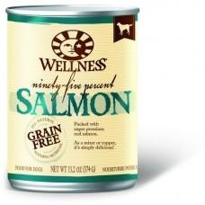 Wellness 95% Grain Free Salmon Pate Dog Canned Food 374g