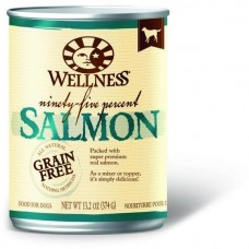 Wellness 95% Grain Free Salmon Pate Dog Canned Food 374g Carton (6 Cans)