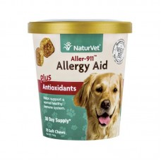 NaturVet Allergy Aid Plus Antioxidants for Cats and Dogs - 70 Soft Chews