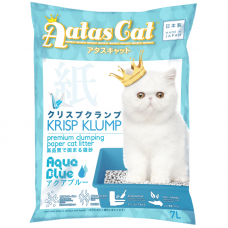 Aatas Cat Krisp Klump Premium Clumping Paper Cat Litter Aqua Blue 7L