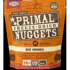 Primal Beef Nuggets Freeze Dog Dried Food 397g (2 Packs)