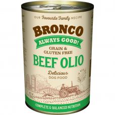 Bronco Beef Olio Dog Wet Food 390g (6 Cans)