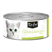 Kit Cat Deboned Chicken & Seafood 80g Carton (24 Cans)
