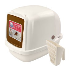 Catidea Cat Ears Cream Litter Box
