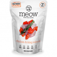 MEOW Freeze Dried Raw Chicken & King Salmon Cat Food 280g