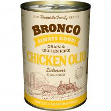 Bronco Chicken Olio Dog Wet Food 390g (6 cans)