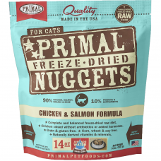 Primal Chicken & Salmon Nuggets Freeze Dried Cat Food  (4 packs)