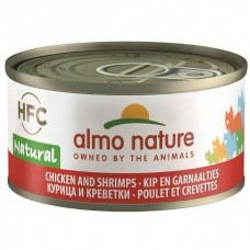 Almo Nature HFC Natural Chicken And Shrimps Canned Cat Food 70g
