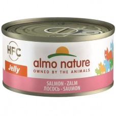 Almo Nature HFC Jelly Salmon Canned Cat Food 70g Carton (24 Cans)