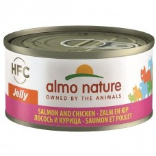 Almo Nature HFC Jelly Salmon And Chicken Canned Cat Food 70g Carton (24 Cans)