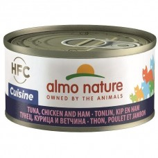 Almo Nature HFC Cuisine Tuna, Chicken And Ham Canned Cat Food 70g Carton (24 Cans)