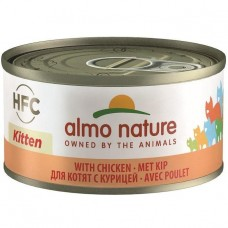 Almo Nature HFC Kitten with Chicken Canned Cat Food 70g Carton (24 Cans)