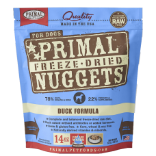 Primal Duck Nuggets Freeze Dog Dried Food 397g (2 Packs)