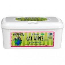 Earthbath Cat Wipes Green Tea & Awapuhi 100 pcs