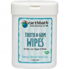 Earthbath Wipes Tooth & Gum Dental Wipe For Dog & Cat 25pcs