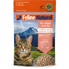 Feline Natural New Zealand Grass-Fed Lamb & King Salmon Feast Freeze-Dried Cat Food 320g