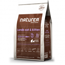 Naturea Grain Free Salmon, Chicken and Herring for Cats and Kittens Dry Food 7kg