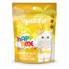 Aatas Cat Happy Time Aloha Chicken & Cheese Cat Treats 60g (3 Packs)