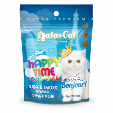Aatas Cat Happy Time Bonjour Tuna & Chicken Cat Treats 60g