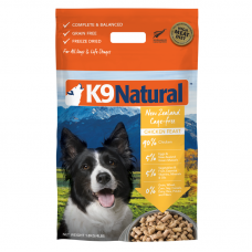 K9 Natural New Zealand Cage-Free Chicken Feast Freeze Dog Dried Food 1.8kg