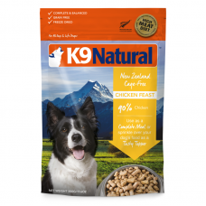 K9 Natural New Zealand Cage-Free Chicken Feast Freeze Dog Dried Food 500g