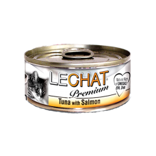LeChat Premium Tuna with Salmon 80g Carton (24 Cans)