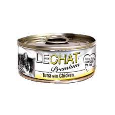 LeChat Premium Tuna with Chicken 80g Carton (24 Cans)